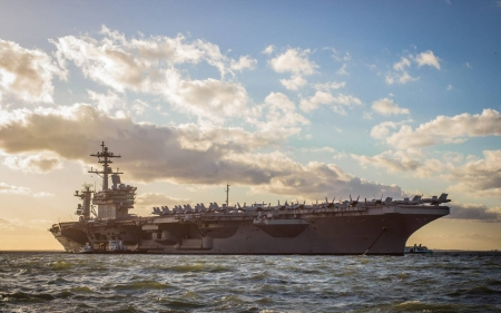 USS George H.W. Bush - cool, carrier, military, boat, fun