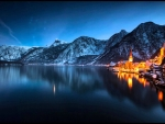 Night Panorama of Hallstatt, Austria