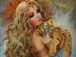 Beauty with tiger cub