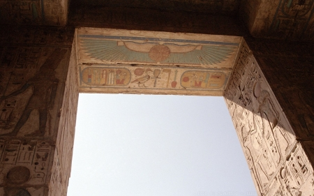 Egyptian Doorway - temple, ancient, Egypt, gateway