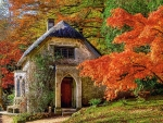 Gothic House in Autumn