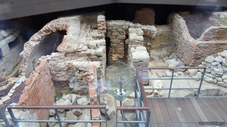 Archaeological site  in Brussels, Belgium - Bricks, Brussels, Europe, Ruins, Stone, Belgium, Archaeological