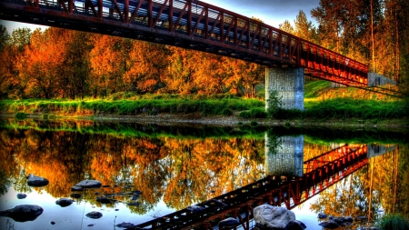 Bridge - photography, rivers, nice, landscape, nature, bridge