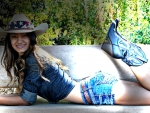 Benched Cowgirl . .