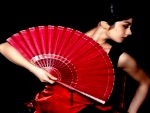 Flamenco Woman with  Hand Fan