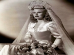 Ginger Rogers With Her Wedding Dress