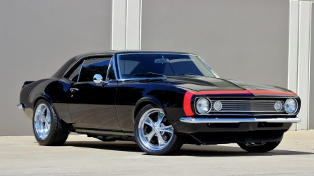 1967 Chevrolet Camaro Pro Touring - Muscle, Bowtie, Red Stripe, GM