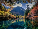 Autumn River and Mountains