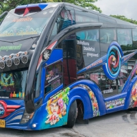 thai double decker bus