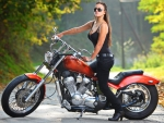 Girl in Motorcycle