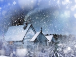 Winter Home Collage