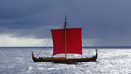 Viking Ship - Viking, Sail, ocean, Ship