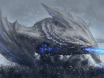 White walkers and dragon
