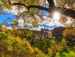 Autumn sun over Eltz castle, Germany