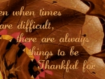 Being Thankful (In All Circumstances)