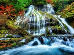 WATERFALL at AUTUMN