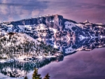 Oregon's Crater Lake in Winter