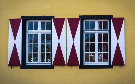 Window - Yellow, Architecture, Red, Window, White
