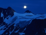Full Moon over Winter Mountains