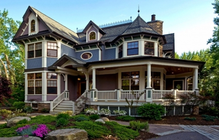 Beautiful Victorian House - Beautiful Victorian, House, White, Blue