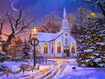 Old Church at Christmas