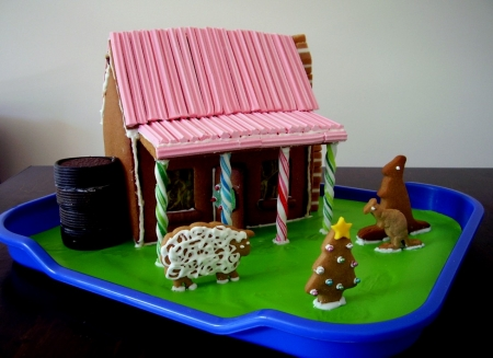 Aussie Gingerbread House