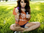 Tanit Phoenix blowing bubbles