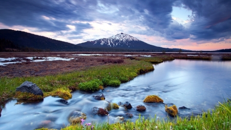 Beautiful Scenery - river, nature, mountain, sky