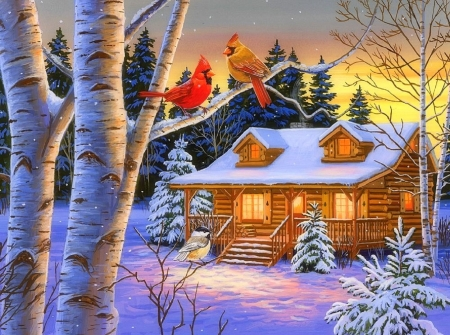 Rustic Retreat in Winter