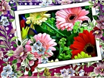 PRETTY FRAMED FLOWERS