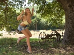 Cowgirl In The Backyard . .