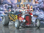 Santa's Hot Rod and Helper