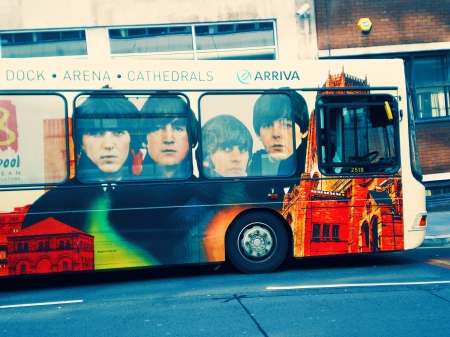 Beatles - Bus - Liverpool - Band, Beatles, Transport, Bus, Liverpool