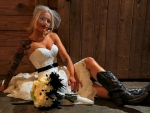 A Cowgirl Bride. .