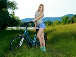 Kendell and her Bike