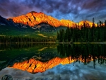 Mountain Reflecting in the Lake