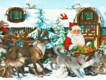 Santa's Reindeer and Furry Friends