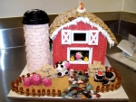 Cute Gingerbread Barn