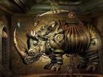 Steampunk Rhinoceros