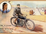 Indian Motercycle vintage ad art