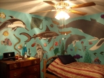 My son's bedroom! Painted by me and a friend!!