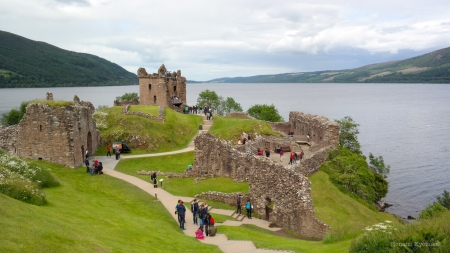Urquhart Castle - Loch Ness - Scotland - Urquhart Castle, Scottish Highlands, Castles, Scottish Castles, Scotland, Loch Ness, Scottish Lochs