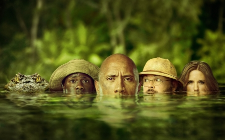 Jumanji: Welcome to the Jungle - Video Game, Dwayne Johnson, Kevin Hart, Movie