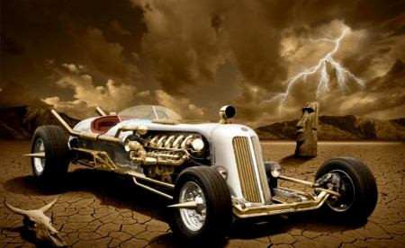 Steampunk Cars - Cars, Abstract, Fantasy, Steampunk