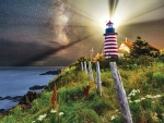 Light Over West Quoddy Lighthouse