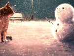 Meeting the snowman