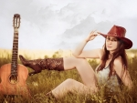 Cowgirl and Her Guitar