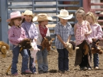 Cowboys/Cowgirls Children Stick Horses