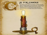 Steampunk Candle