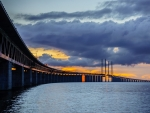 Oresund Bridge at Sunset
